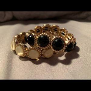 Forever 21 black and white bracelets